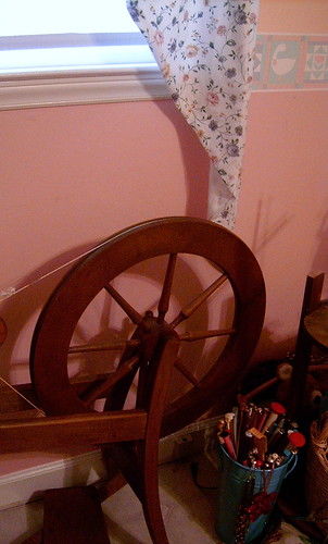 Spinning Wheel & Knitting Needles