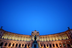 (fredtougas) Tags: vienna wien voyage blue sky travelling statue architecture canon project 350d rebel xt austria europe day wideangle pic palace bleu ciel fred palais dslr backpacker 1022mm vienne tougas colourartaward