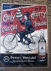 The Only Thing You Can Get In a Hurry is Trouble (swanksalot) Tags: wickerpark get advertising is you thing can retro billboard trouble only whisky scotch hurry colossal dewars the in whitelabel 1846 findesiecle swanksalot sethanderson