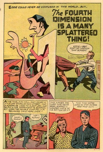 Kirby comics scans The Fourth Dimension is a Many Splattered Thing!