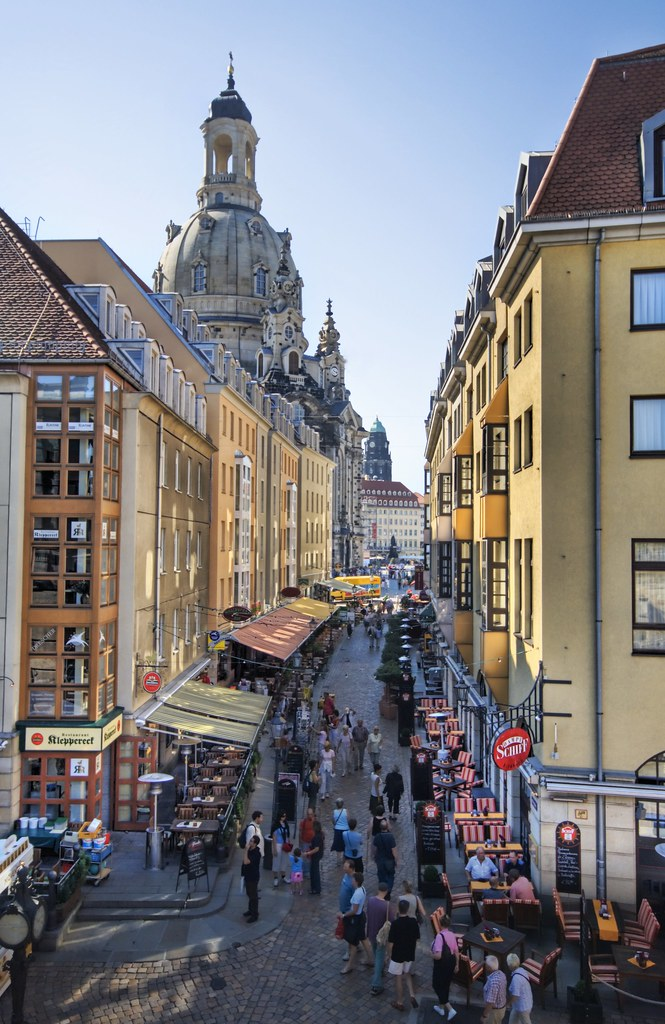 Restaurant Row in Dresden