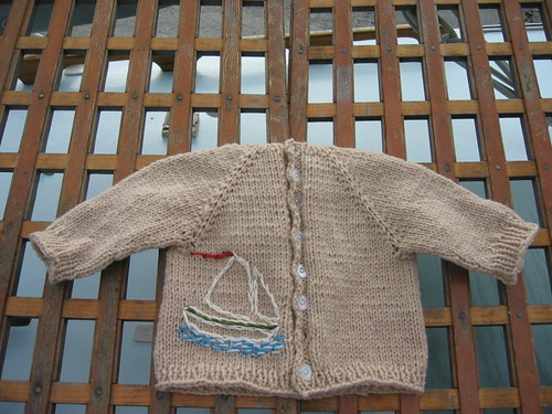 nautical baby sweater by katrinkles.