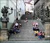 schody (Marlon Brambor) Tags: prague praha tourists summertime hangingout hradčany malástrana radnickeschody