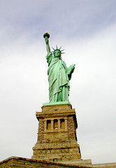 Statue of Liberty (PJSherris) Tags: nyc newyorkcity sky newyork color statue clouds liberty olympus statueofliberty olympusc4040z c4040z