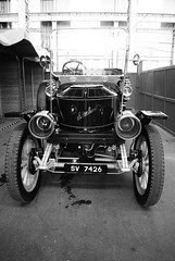 Vintage Car (Silly Little Man) Tags: old blackandwhite bw car vintage sony historic portsmouth vehicle alpha dockyard a230 celebrationofsteam