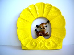 wave of sunshine (amye123) Tags: white sunshine yellow wall vintage bright sweet handmade painted sunny deer frame ornate eclectic pictureframe reclaimed walldecor upcycle homeaccents amye123