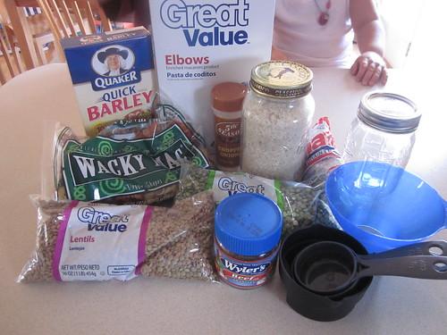 Bean jar ingredients