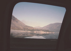 the sea is never full (jordiemoffat) Tags: road trip trees vacation sky lake motion mountains detail reflection window clouds swim truck wow out relax fun drive waiting pretty looking view forestry no go calm adventure together photograph serene moffat jordie castlegar kootneys