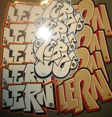LERN (BNW818) Tags: street art graffiti sticker artist stickers collection crew gh slaps packs lern slaptags