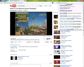 Youtube Carmen Sandiego Search Box Results