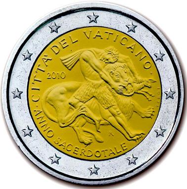 2 Euro Vatikán 2010, medzinárodný rok kňazov