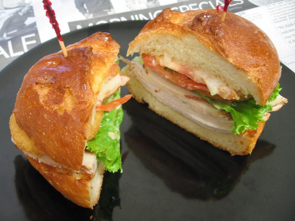Double onion turkey sandwich