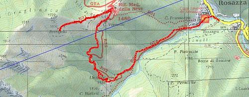 Percoso Cartografico Selle e Alpe Brengola