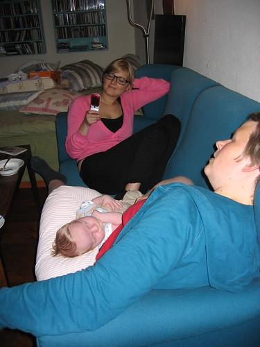 Kristina i sofaen