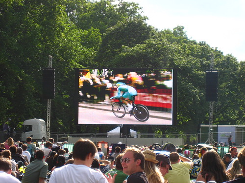 Giant screening at Green Park