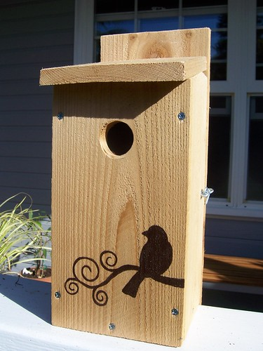I just finished two new birdhouses to list for sale on Etsy.