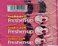 Bubble Gum Freshen-up wrapper