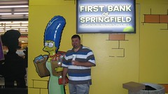 Steve & Marge under the Bank of Springfield sign. (07/13/2007)