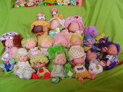 Strawberry Shortcakes (neshachan) Tags: toy toys doll dolls 80s apricot kenner eighties 1980s strawberryshortcake pieman huckleberry orangeblossom 80stoys appledumplin strawberryshortcakes 1980stoys strawberryshortcakedolls piepiemanpurple