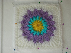 Sun Spot granny square blocked