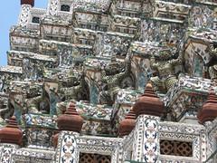 Giant around base Wat Arun