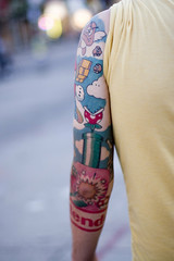 Samuels' Nintendo Sleeve (back) (VikingZombie) Tags: 20d tattoo ink canon 50mm james bowser arm nintendo mario games 50mm14 tat samuel danielinnes samuelmullin