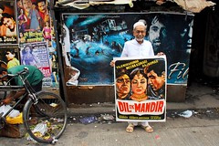 The PosterWallah (lecercle) Tags: people india cinema colour asia things bombay posters bollywood mumbai graffic grantroad posterwalla