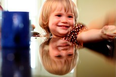 Reflection (izzysmama) Tags: reflection smile face daughter isabel
