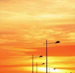 path to jupiter!!!!! (limerickdoyle) Tags: orange solar streetlight path atmosphere system planets orangesky jupiter settingsun gasgiant whereintheworld canon400d jupiterrise