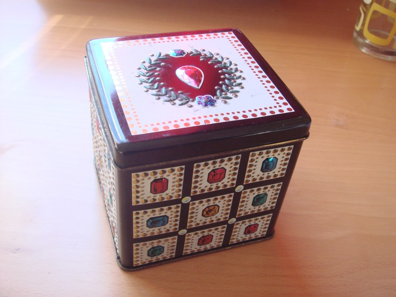 bejewelled tin