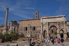 Arco di Settimio Severo and Tempio di Saturno (塞維斯凱旋門與沙突斯神殿)