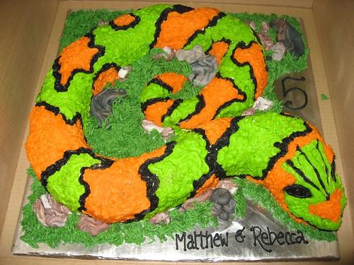 Фото торт змея