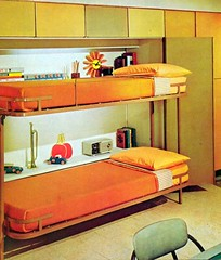 Fold-Down Bunkbeds (Heath & the B.L.T. boys) Tags: orange inspiration yellow modern vintage bed bedroom retro bunkbed decorate kidsroom