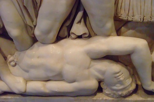 Hector's Body depicted on Roman Sarcophagus with Scenes from the Life of Achilles made in Attica Greece 180-220 CE Marble (3)