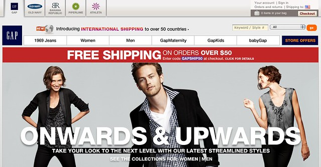 Gap Website Today (Old Logo Back!)