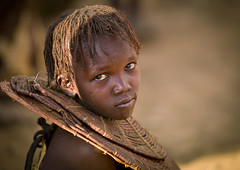 Pokot girl with traditional necklace - Kenya (Eric Lafforgue) Tags: africa girl kid child sad kenya culture tribal tribes afrika tradition tribe ethnic tribo afrique ethnology tribu 2526 pokot qunia lafforgue ethnie  qunia    kea   pokhot a