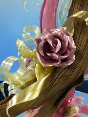 Glanz (Zuckerschlosser) Tags: wood roses art japan design kunst sugar patisserie chef pastry rosen holz sucre zucker meister showpiece konditor dart zuckerschlosser schaustueck