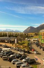 Parking & Space (zneppi, the photo freak) Tags: sky mountains alps cars austria tirol österreich alpen tyrol innsbruck dez parkingspace karwendel martinswand