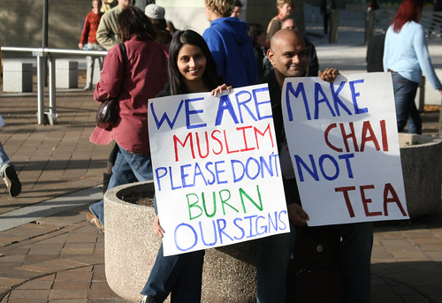 We Are Muslim, Please Don't Burn Our Signs