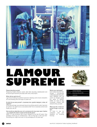 L'amour Supreme on cover of Amateur Mag