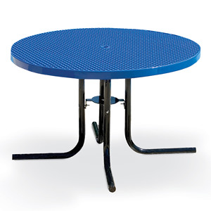 "F1147 - 46"" Round Patio Table with Expanded Surface"