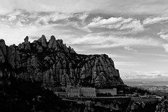 Montserrat mountain (hunter of moments) Tags: travel light sky mountain black rock stone landscape nikon paisaje catalonia montserrat montaa roca d5000