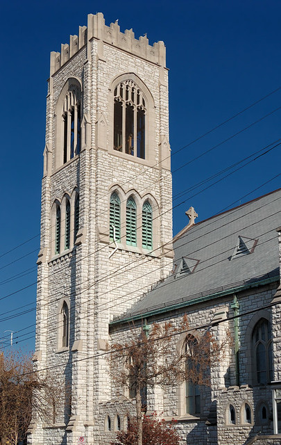 Saint Margaret of Scotland Church, in Saint Louis, Missouri, USA - view of tower