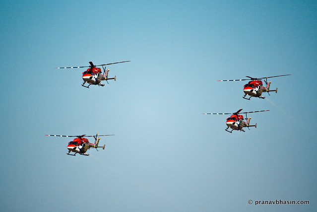 Pawan Hans Helicopter At Aero Show