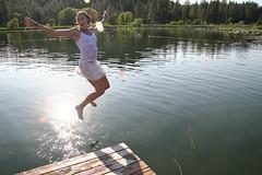 062007 (austinspace) Tags: park county summer portrait woman white lake water swimming swim washington insane student spokane day dress daily cheney eastern ewu easternwashingtonuniversity fishlake perday