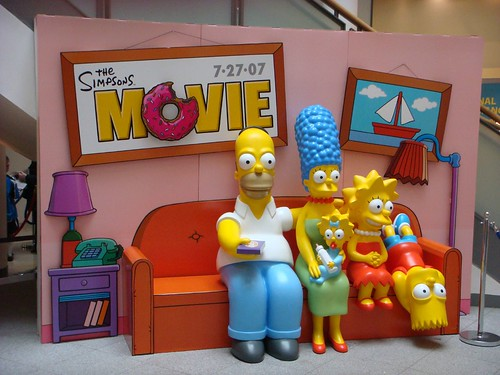 The Simpsons Movie photo set at Ocean Terminal, Edinburgh