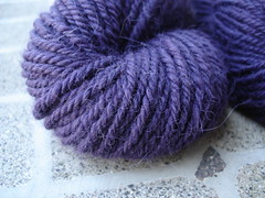 three ply purple alpaca closeup