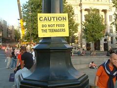 teenagers (maris80) Tags: london protest trafalgar banksy sq