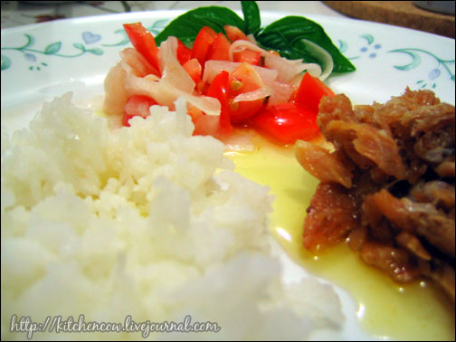 Dried Fish & Tomato Daikon Salad Meal
