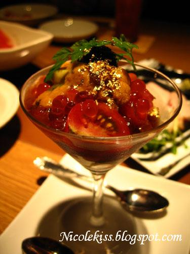 gold sashimi martini